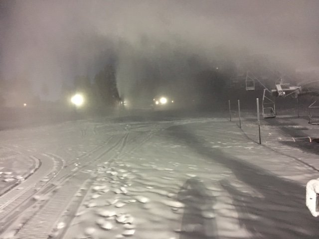 Early Morning Snowmaking on Dec 8