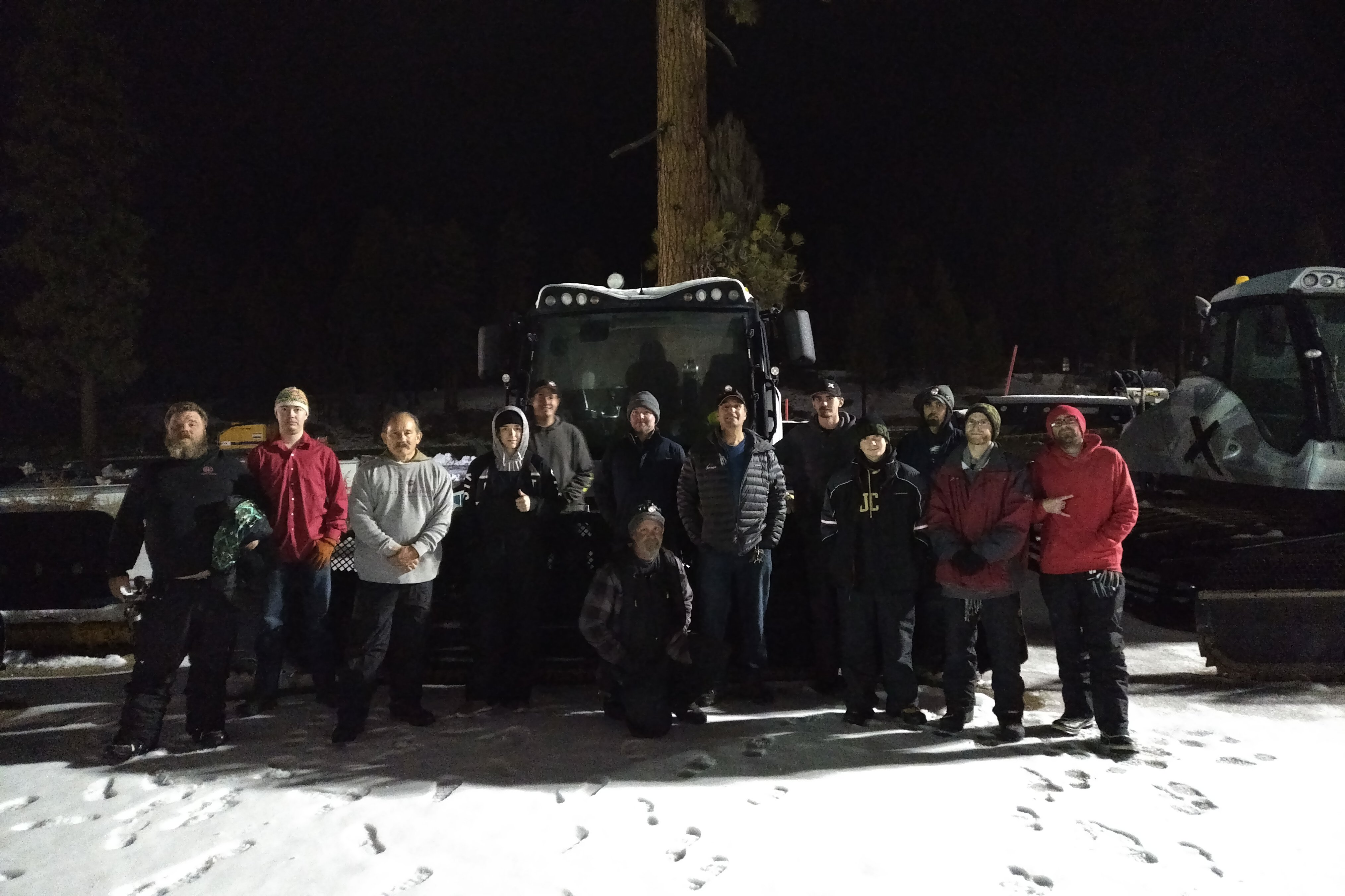 Snow Valley night crew poses for appreciation photo